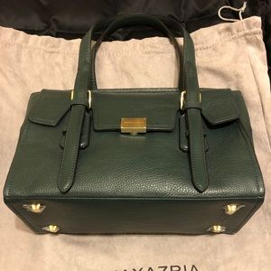 NWT BCBG LEATHER DEEP JADE MID SIZE CARRY ALL